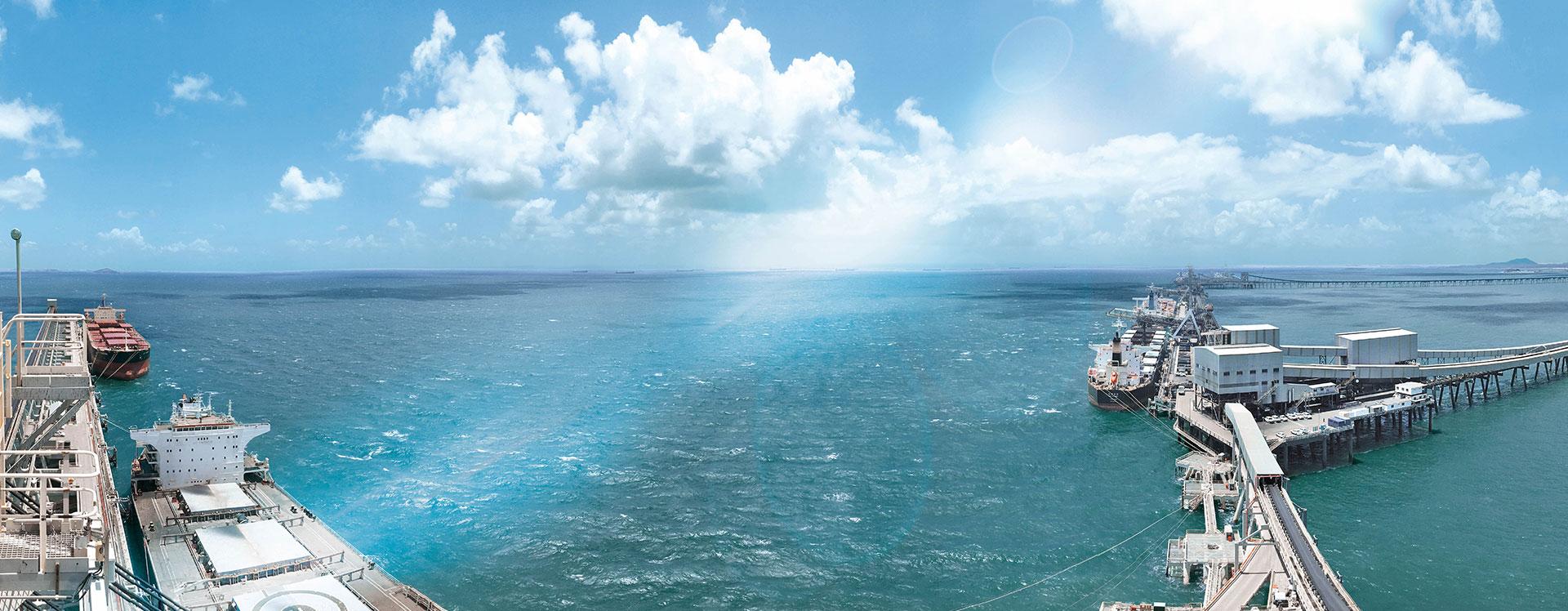 Automatische Schiffsbelader und Kollisionsschutz